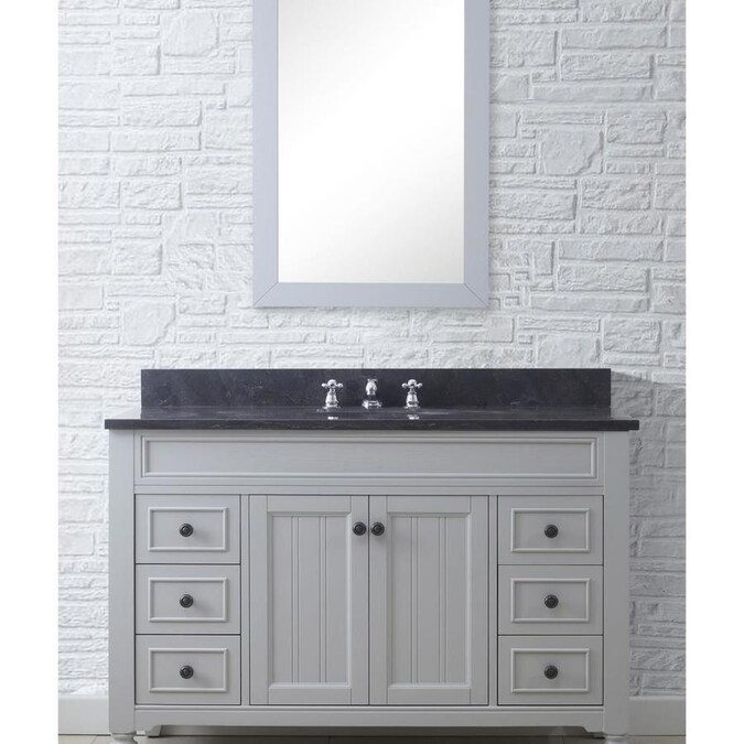 Water Creation 48 In Potenza Collection Earl Gray Single Oval Sink Bathroom Vanity Oil Rubbed Bronze In The Endless Aisle Department At Lowes Com