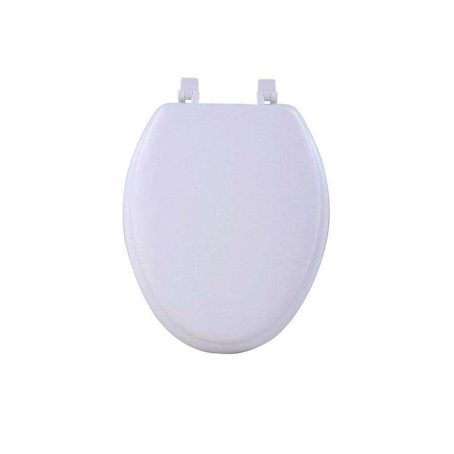 Achim Fantasia White Soft Elongated Vinyl Toilet Seat 19 In In The Endless Aisle Department At Lowes Com