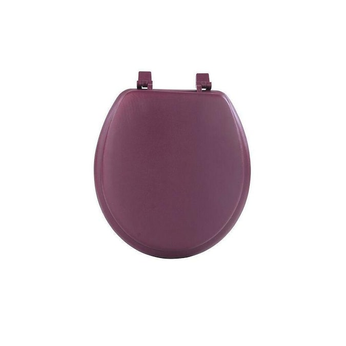 Achim Fantasia Burgundy Soft Standard Vinyl Toilet Seat 17 In In The Endless Aisle Department At Lowes Com