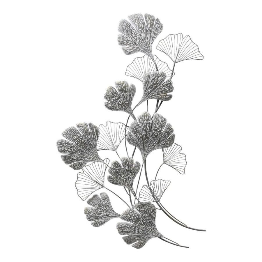 Homeroots Hand Painted Gingko Leaves Wall Art Decor In The Wall Art Department At Lowes Com