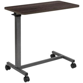 Essential Medical Supply Automatic Adjustable Overbed Table With Woodgrain Top In The Overbed Tables Department At Lowes Com