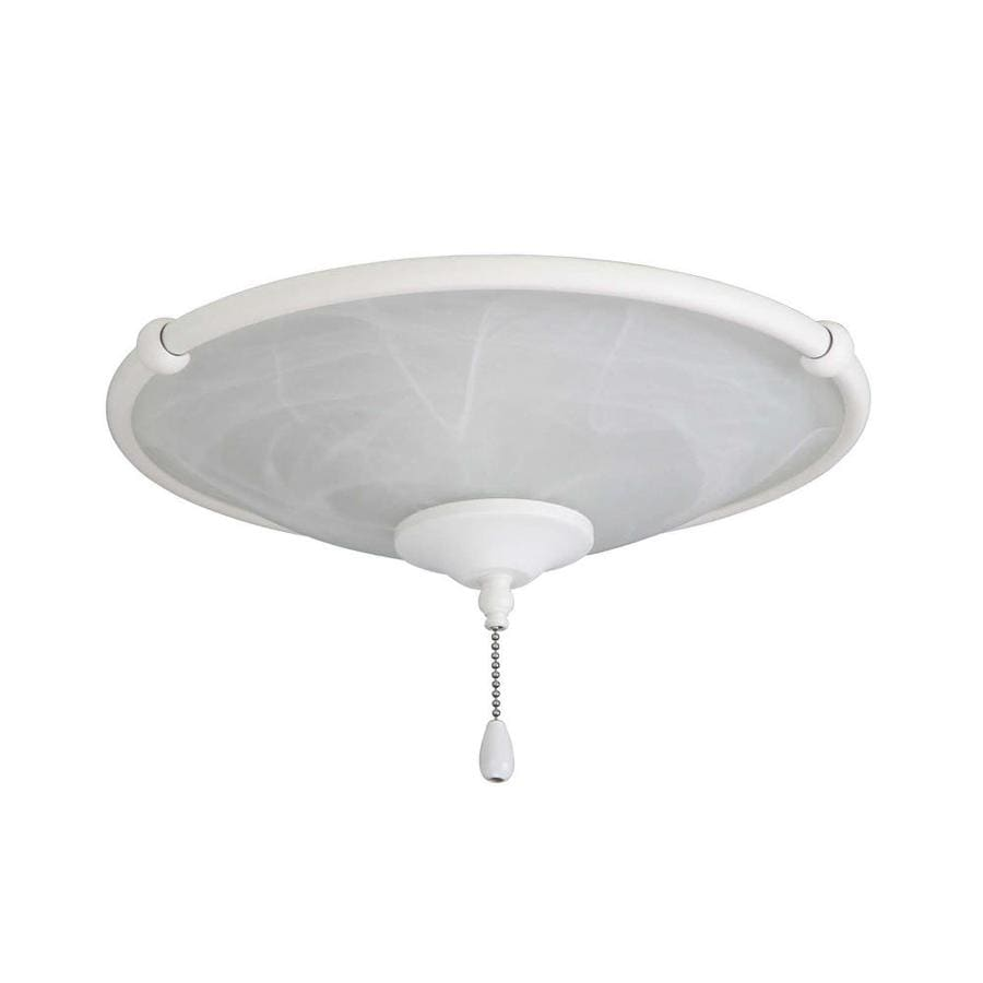 Emerson Emerson Low Profile Damp Rated Ceiling Fan Light Fixture Satin White Finish In The Ceiling Fan Light Kits Department At Lowes Com