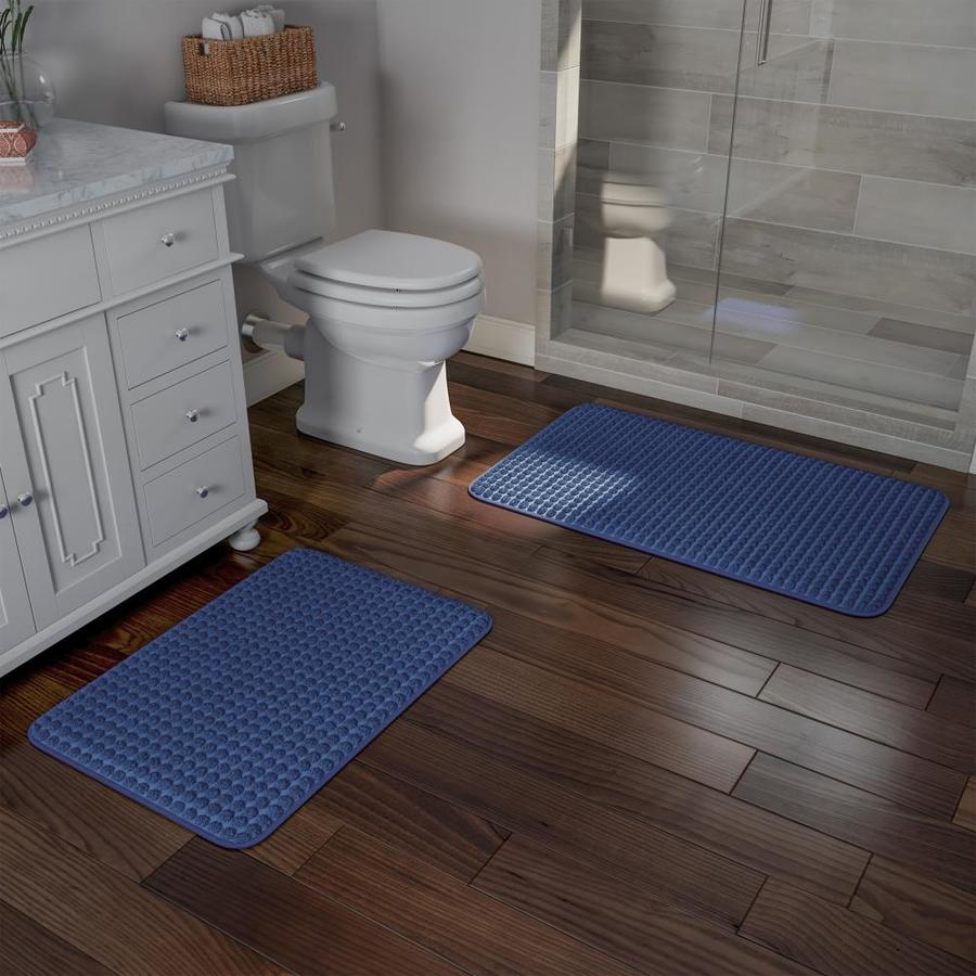 QUICK DRY MEMORY FOAM BATHROOM RUG NONSKID BACKING IN 4 COLORS and 2 SIZES