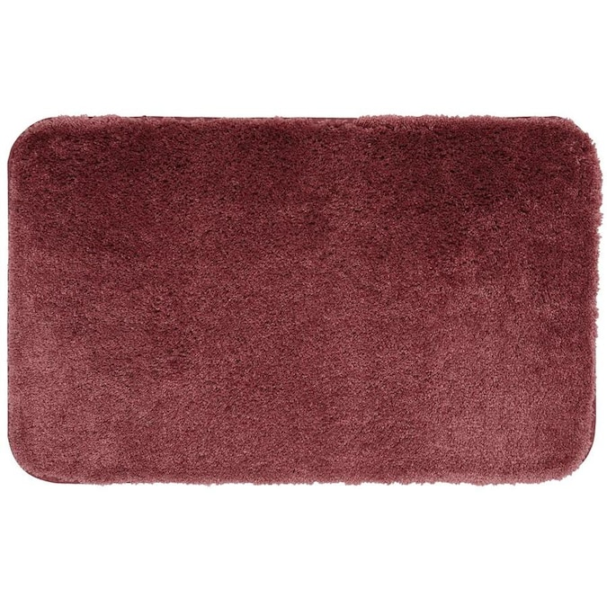 Mohawk Home New Regency Bath Rug 24 In X 17 In Berry Nylon Bath Rug In The Bathroom Rugs Mats Department At Lowes Com