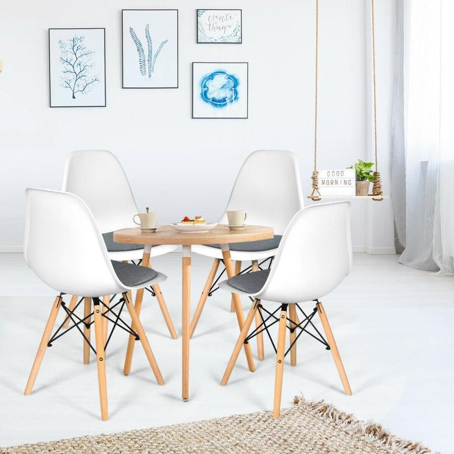 Casainc Armless Side Chair Modern White Linen Wingback Chair In The Chairs Department At Lowes Com
