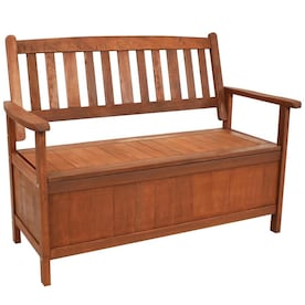 Sunnydaze Decor 47 25 In W X 36 In L Brown Patio Bench In The Patio Benches Department At Lowes Com