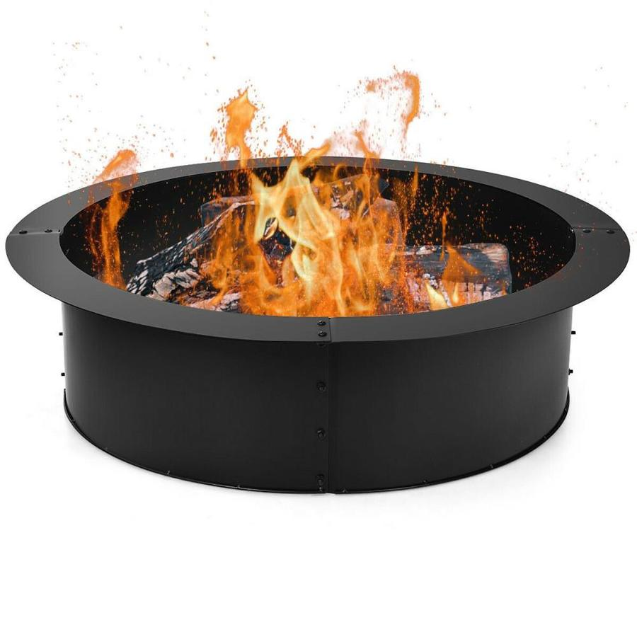 Casainc 33 In W 40000 Btu Black Portable Steel Propane Gas Fire Pit In The Gas Fire Pits Department At Lowes Com