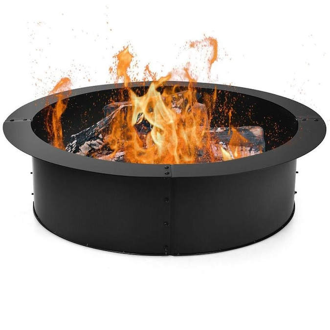 Casainc 33 In W 40000 Btu Black Portable Steel Propane Gas Fire Pit The Pits Department At Lowes