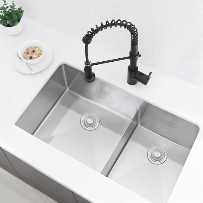 VALISY 32x19 Inch Commercial SUS304 Stainless Steel Drop In Workstation Deep Undermount Single Basin Kitchen sink, Kitchen Sinks Combo with Dish Drainer /& Cutting Board /& Basket Strainer /& Bottom Grid