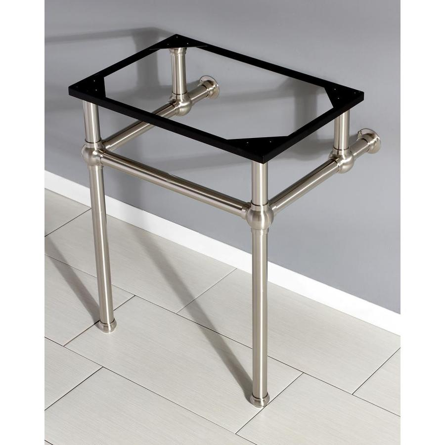 Kingston Brass Templeton 24 In Brushed Nickel Bathroom Console Metal Legs In The Console Sinks Department At Lowes Com