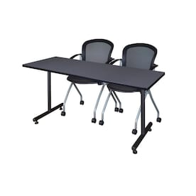 Regency Training Gray 4 Person Training Table 60 In W X 29 In H In The Office Tables Department At Lowes Com