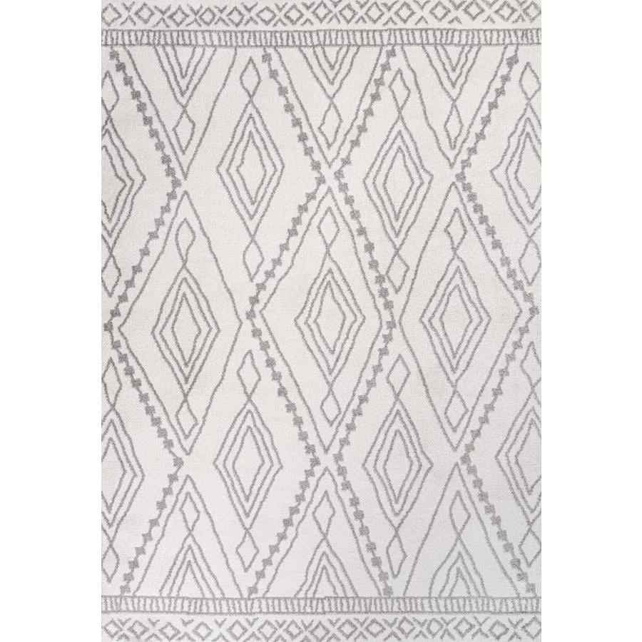 Jonathan Y Moroccan Hype 4 X 6 Ivory Gray Indoor Trellis Bohemian Eclectic Area Rug In The Rugs Department At Lowes Com
