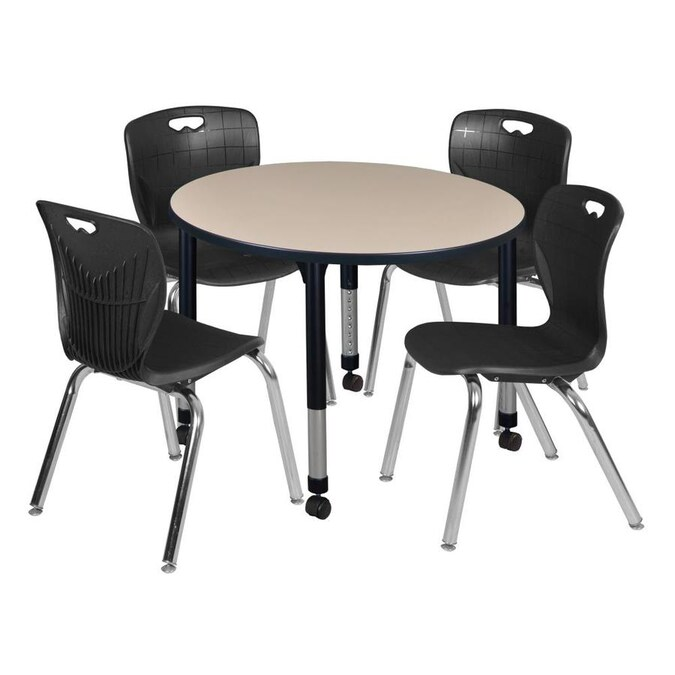 Regency Classroom Tables Off White 4 Person Training Table 42 In W X 34 In H In The Office Tables Department At Lowes Com