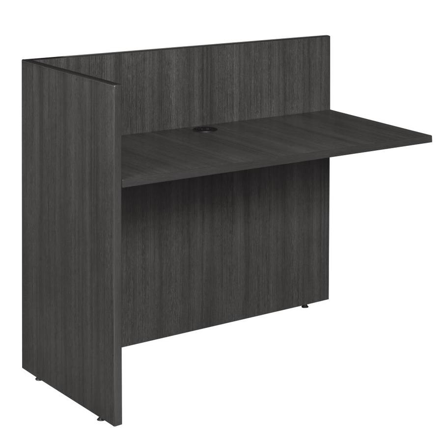 Regency Legacy 24 In Gray Modern Contemporary Reception Desk In The Desks Department At Lowes Com