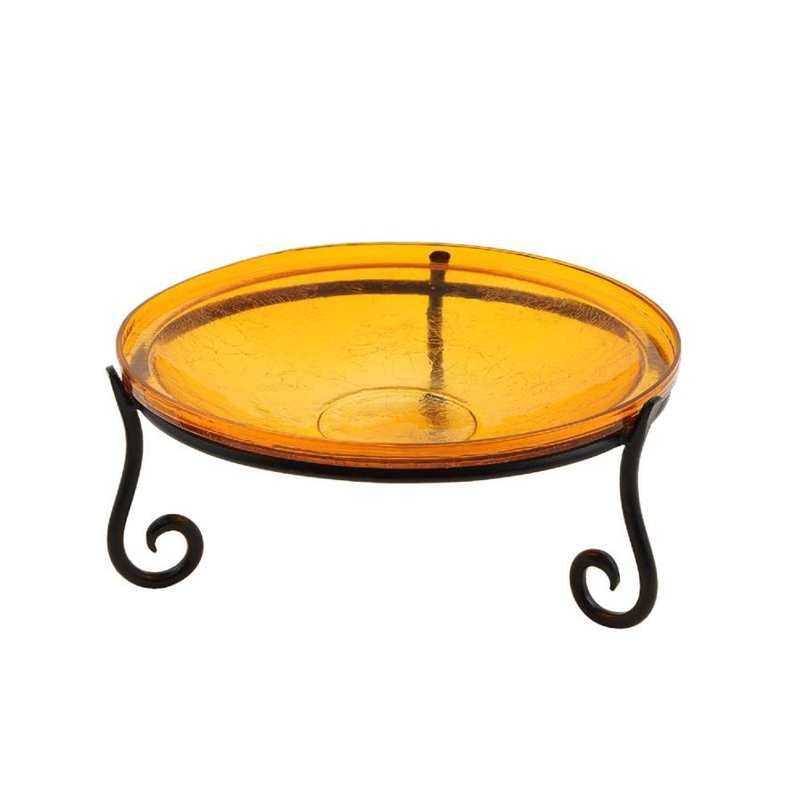 Minuteman International 6 In H Orange Glass Complete Birdbath In The Birdbaths Department At Lowes Com