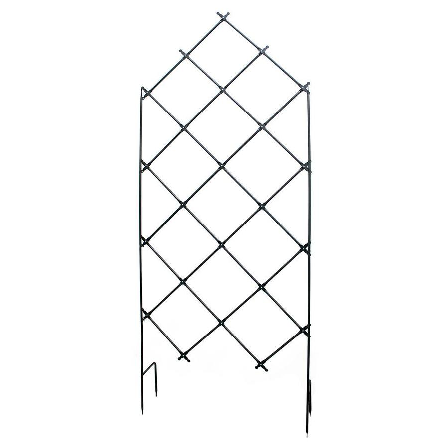 Minuteman International Achla Designs Traditional Freestanding Lattice Garden Trellis 95 In Tall Graphite Powder Coat Finish In The Garden Trellises Department At Lowes Com