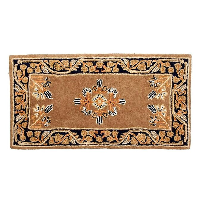 Minuteman International Minuteman International Jardin Rectangular Hearth Rug 44 In Long Cocoa In The Rugs Department At Lowes Com