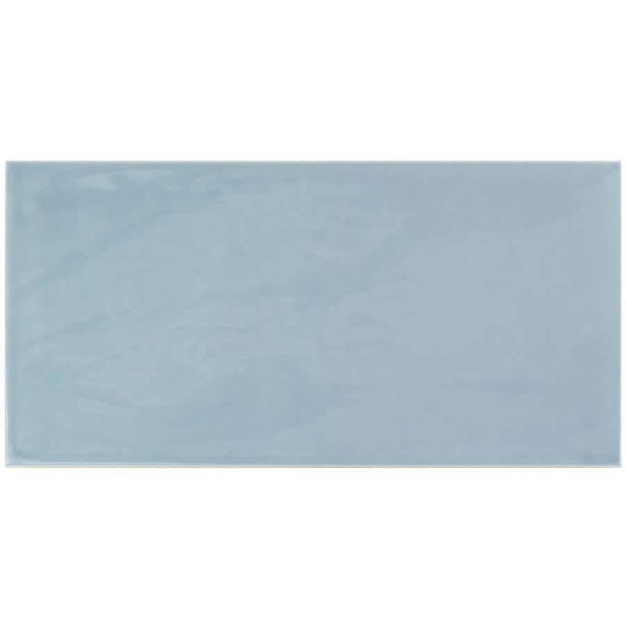 Artmore Tile Antigua Light Blue 5 In X 10 In Polished Ceramic Linear Brick Look Floor And Wall Tile Sample In The Tile Samples Department At Lowes Com