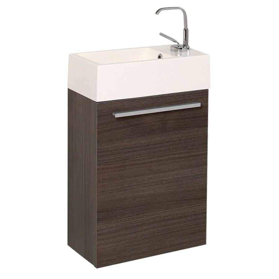 Fresca Pulito 16 In Gray Single Sink Bathroom Vanity With White Acrylic Top In The Bathroom Vanities With Tops Department At Lowes Com