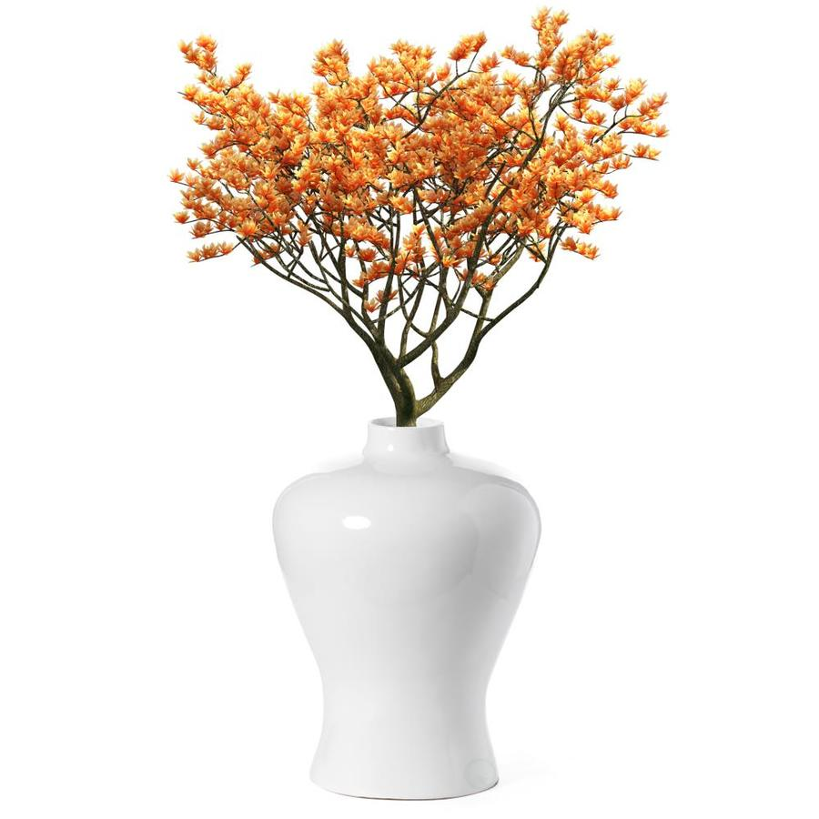 Uniquewise Modern White Large Tabletop Centerpiece Flower Vase 17 75 In In The Decorative Accessories Department At Lowes Com