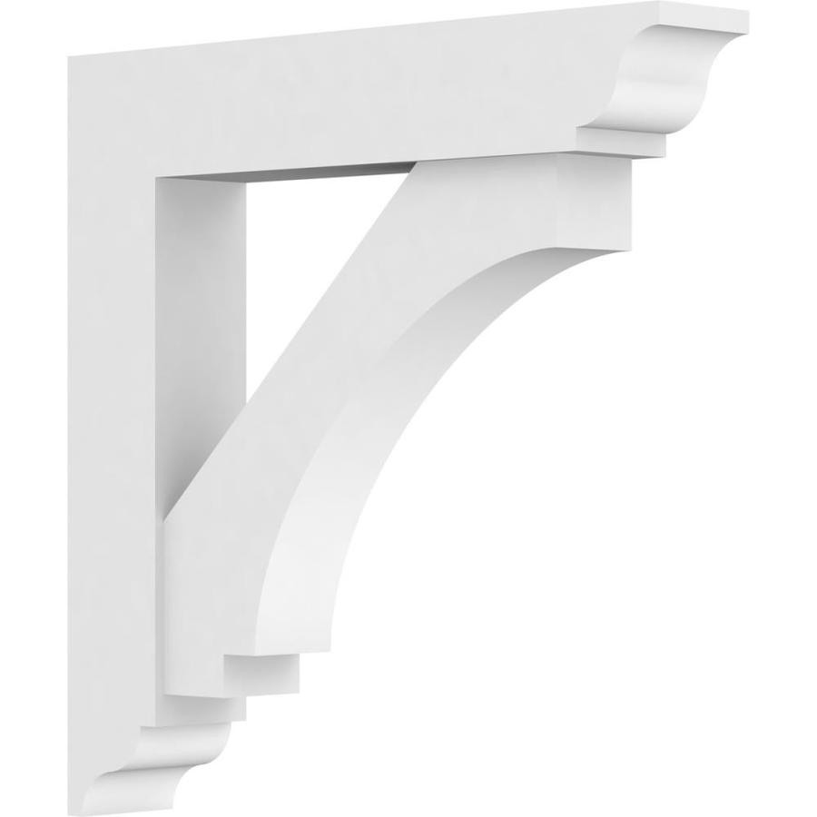 Ekena Millwork 3 In W X 18 In D X 18 In H Standard Imperial Architectural Grade Pvc Bracket With Traditional Ends In The Brackets Department At Lowes Com