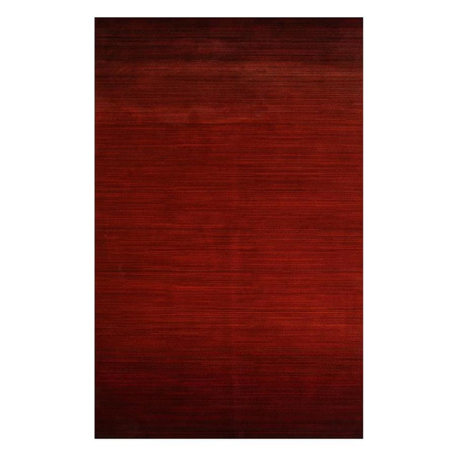 Mda Rugs Cordoba 5 X 8 Red Black Indoor Stripe Mid Century Modern Area Rug In The Rugs Department At Lowes Com