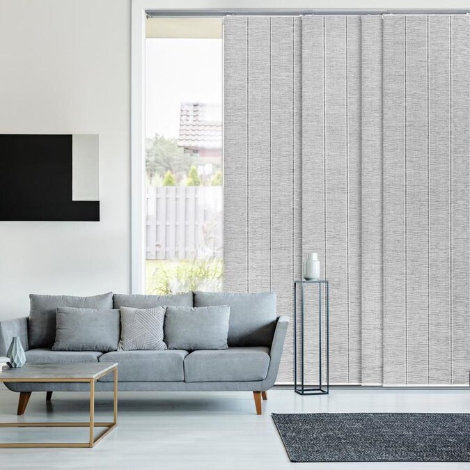 Godear Design 23 In Slat Width 86 In X 96 In Cordless Airo Fabric Blackout Full View Standard Vertical Blinds In The Blinds Department At Lowes Com