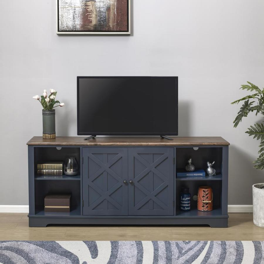 Festivo Navy Tv Stand Accommodates Tvs Up To 70 In In The Tv Stands Department At Lowes Com