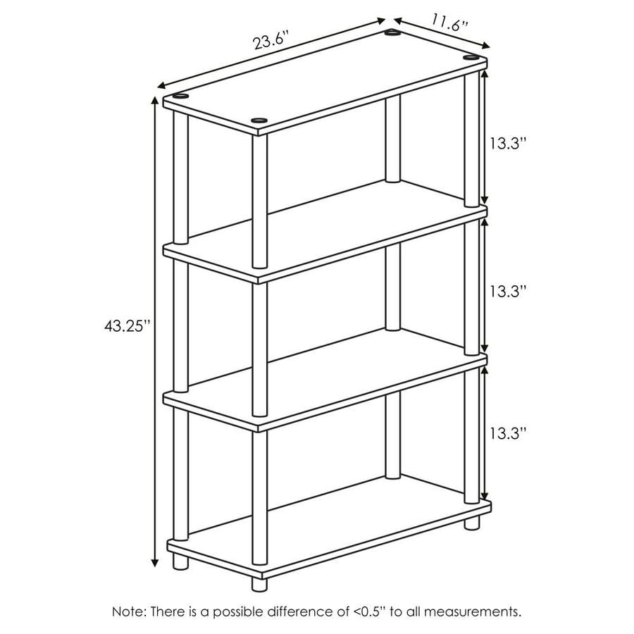 Furinno Turn N Tube 23 6 W In X 25 H In X 11 4 D In 4 Tier Multipurpose Shelf Display Rack In Walnut Brown In The Freestanding Shelving Units Department At Lowes Com