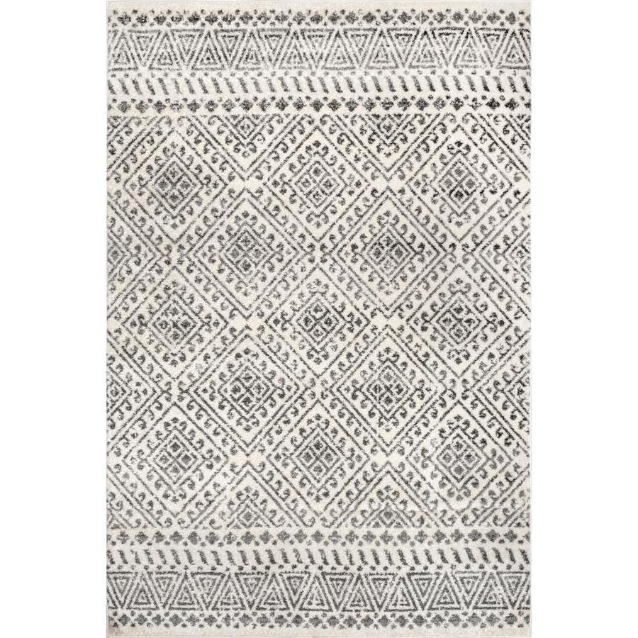 Nuloom Camila 9 X 12 Off White Indoor Trellis Area Rug In The Rugs Department At Lowes Com