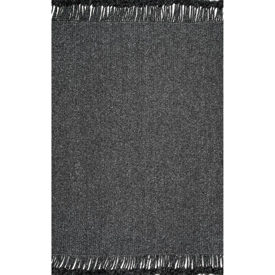 Nuloom Courtney 10 X 14 Charcoal Indoor Solid Area Rug In The Rugs Department At Lowes Com