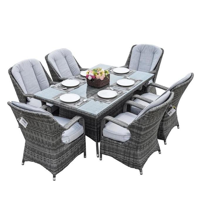 Moda Furnishings Ozark Grey 7 Piece, Solana Bay 7-Piece Patio Dining Set