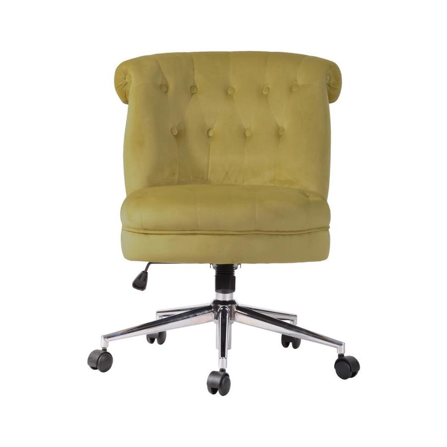 Casainc Yellow Fabric Upholstery Butterfly Seat Plate Office Chair With Nylon Caster In The Office Chairs Department At Lowes Com