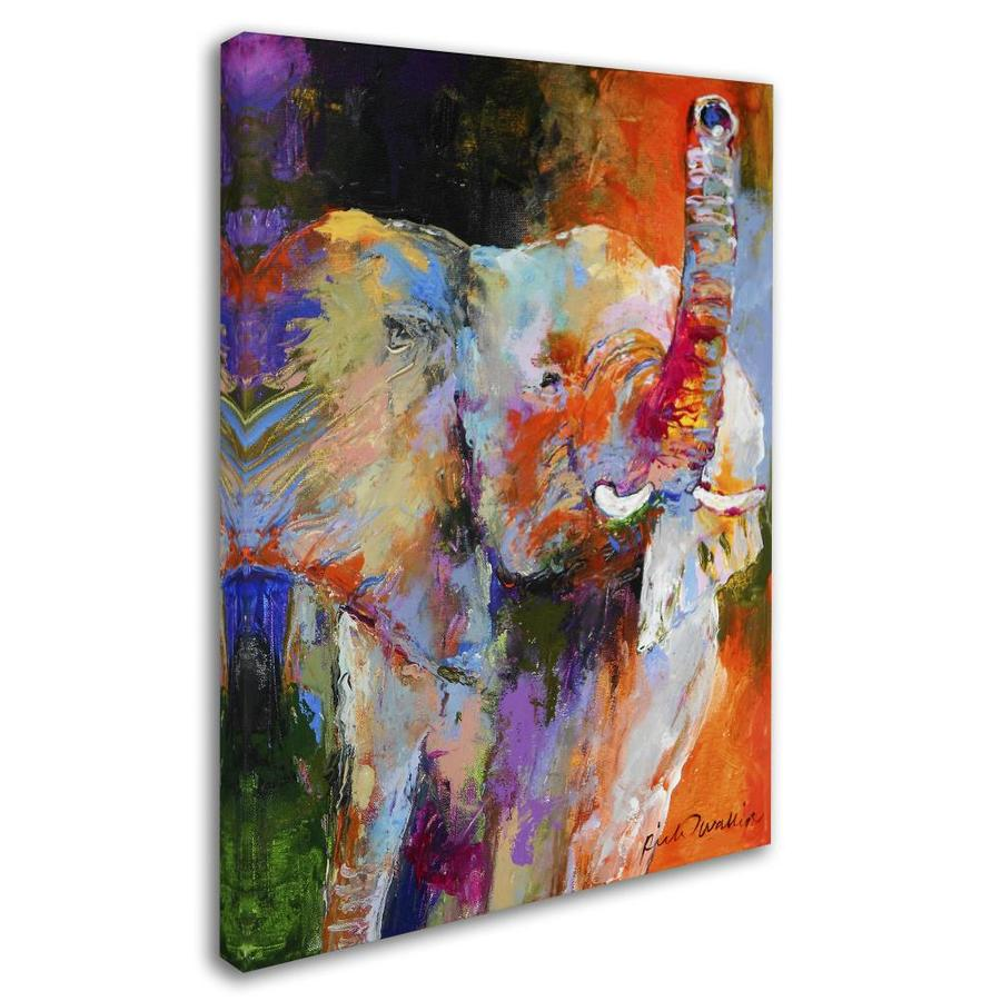 Trademark Fine Art Richard Wallich Art Elephant 18x24 Canvas Art In The Wall Art Department At Lowes Com