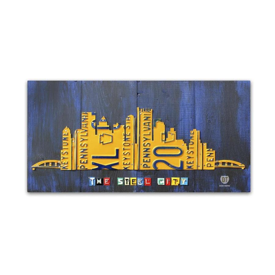 Trademark Fine Art Design Turnpike Pittsburgh Skyline 16x32 Canvas Art In The Wall Art Department At Lowes Com
