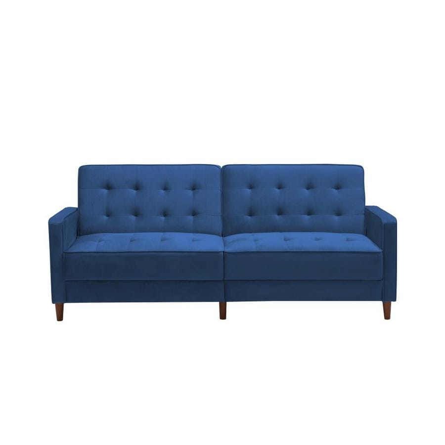 Casainc Blue Modern Velvet Upholstered Sofa Bed In The Futons Sofa Beds Department At Lowes Com
