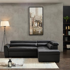 Clihome Mil Gray Motion 94 5 In Symmetrical Reclining Sectional Sofa In The Living Room Sets Department At Lowes Com