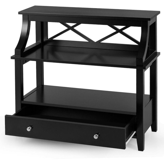 casainc 3tier storage rack end table side table with