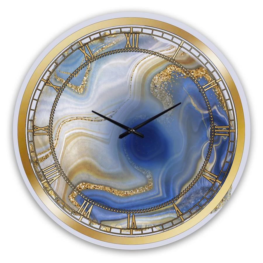 Designart Designart 'Ocean Blue Golden Jasper Agate I' Modern wall ...