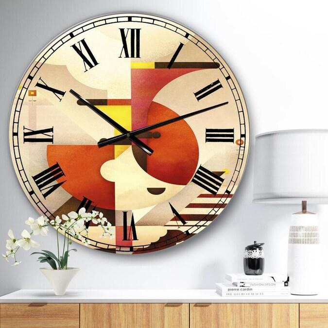 Designart Designart All That Jazz Large Mid Century Wall Clock In The Clocks Department At Lowes Com