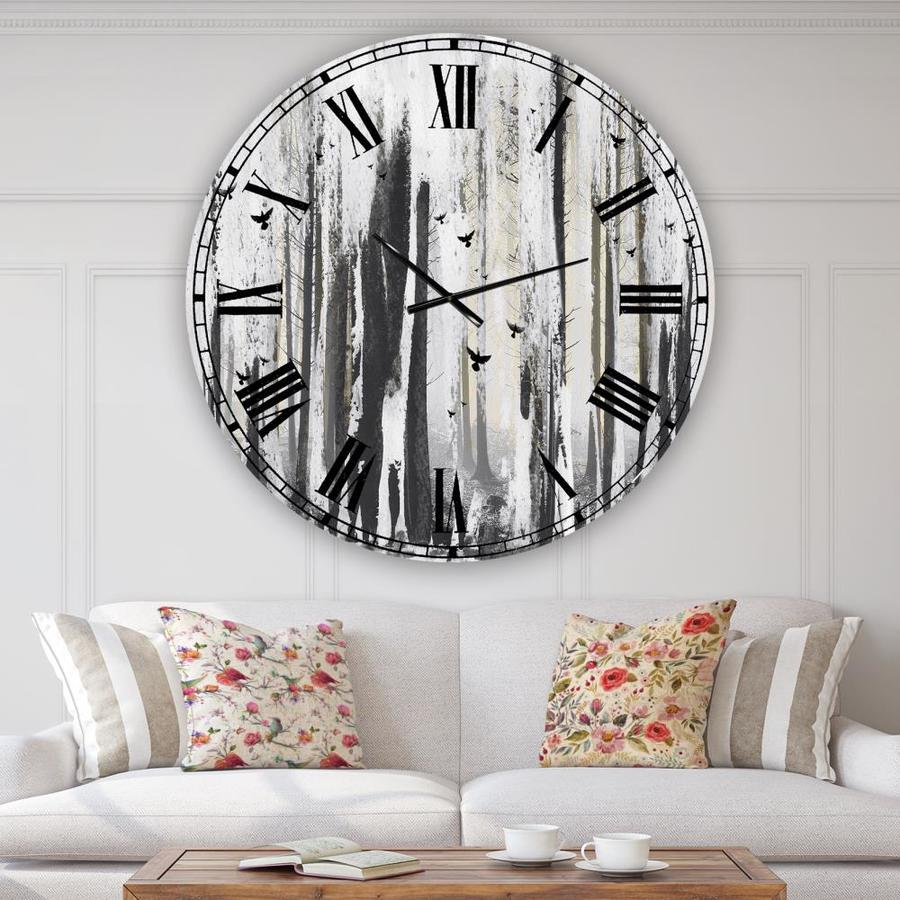 Designart Designart Strange World Oversized Cottage Wall Clock In The Clocks Department At Lowes Com