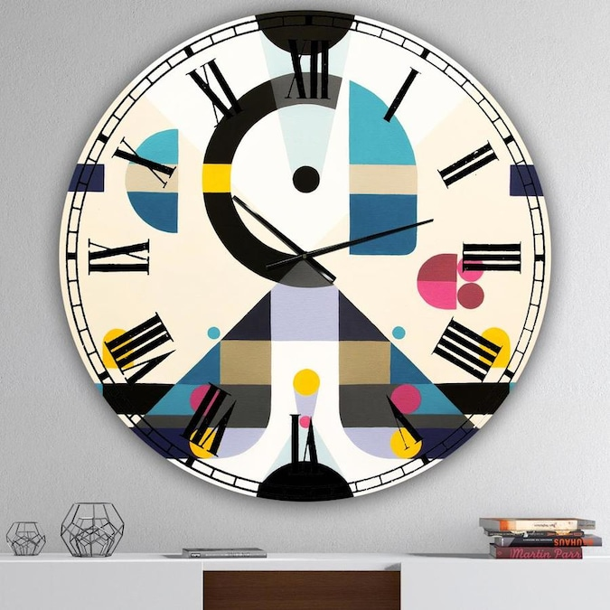 Designart Designart Open Minded Large Mid Century Wall Clock In The Clocks Department At Lowes Com