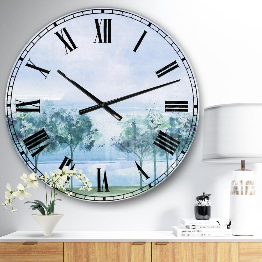 Designart Designart Tree Across The Lake Traditional Wall Clock In The Clocks Department At Lowes Com