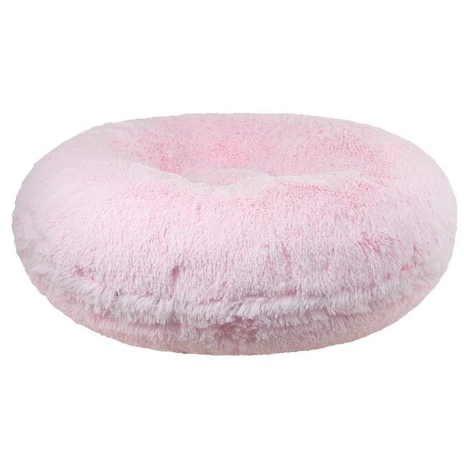 Multiple Sizes Bessie and Barnie Signature Bubble Gum Luxury Shag Extra Plush Faux Fur Bagel Pet // Dog Bed L 42