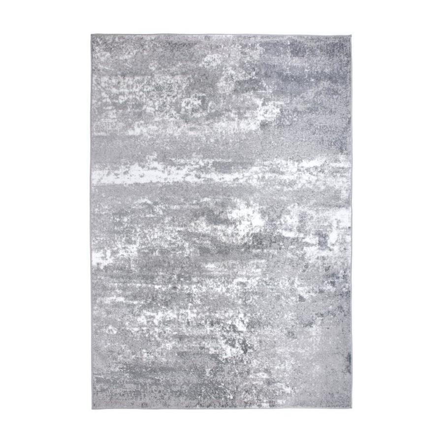 World Rug Gallery Legacy 3 Ft3 Inx5 Ft Distressed Abstract Watercolor Gray Area Rug In The Rugs Department At Lowes Com