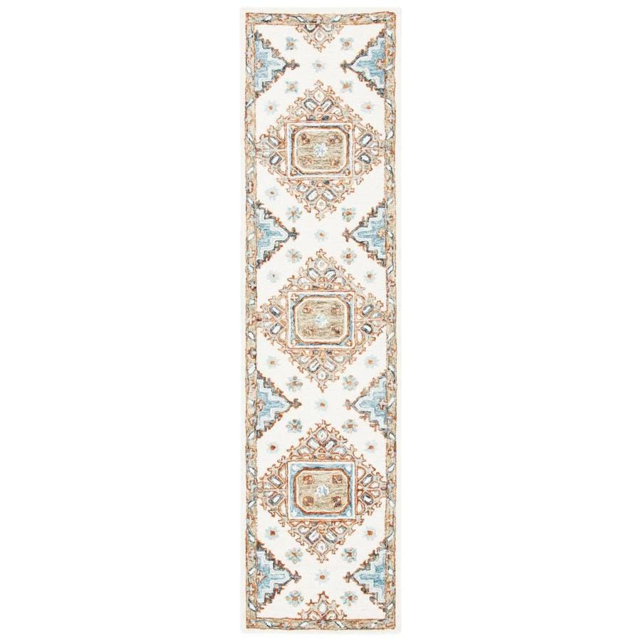 Safavieh Capri 2 X 9 Ivory Rust Indoor Abstract Bohemian Eclectic Handcrafted Runner In The Rugs Department At Lowes Com