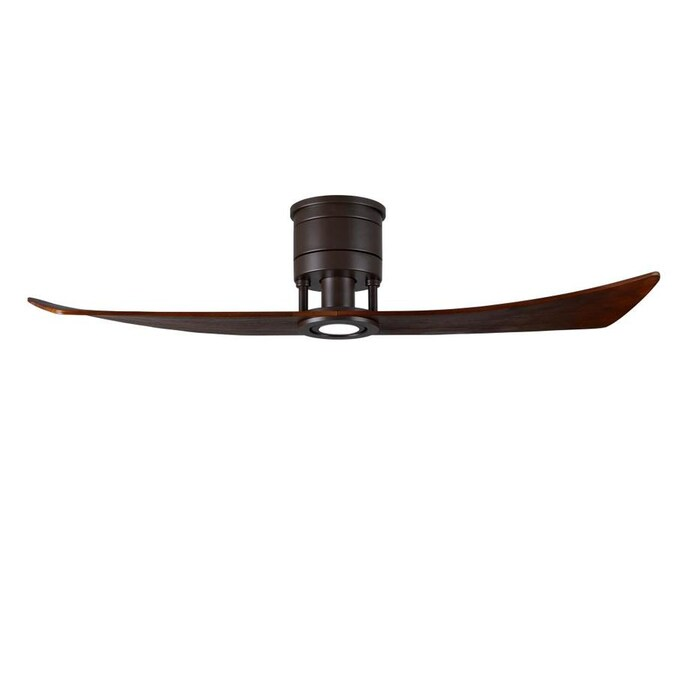Matthews Fan Company Lindsay 52 In With Led Light Kit Textured Bronze Finish With Walnut Blades In The Ceiling Fans Department At Lowes Com