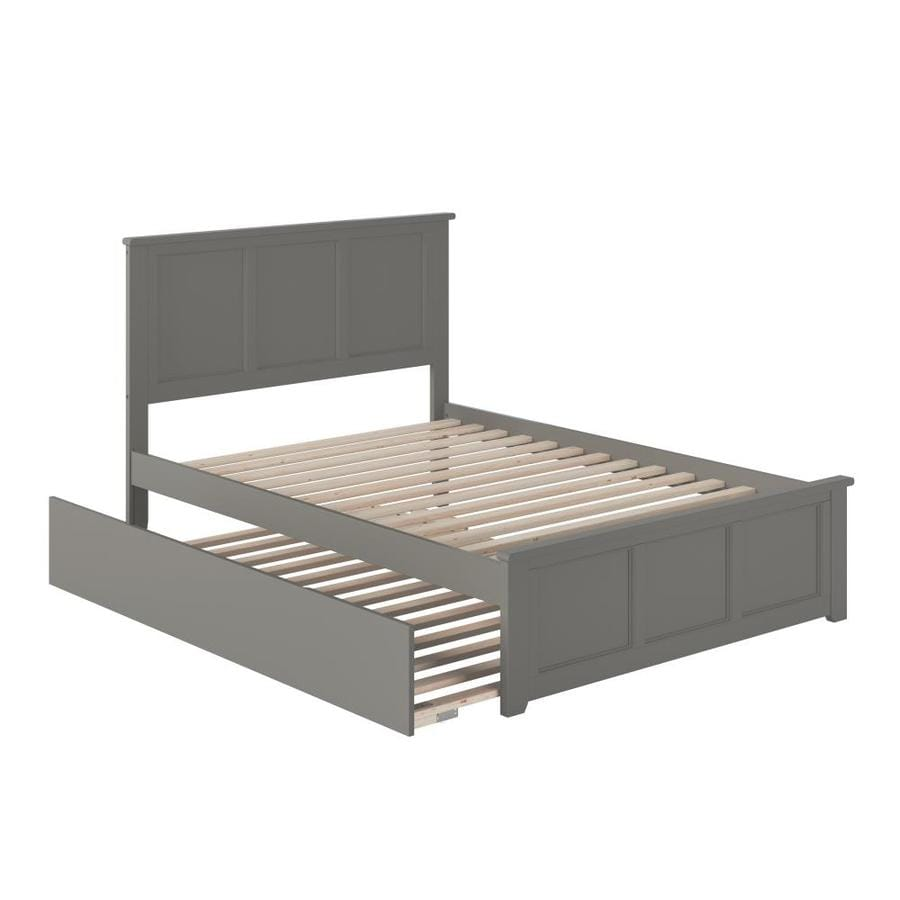 Atlantic Furniture Madison Full Platform Bed With Matching Foot Board With Full Size Urban Trundle Bed In Grey In The Beds Department At Lowes Com