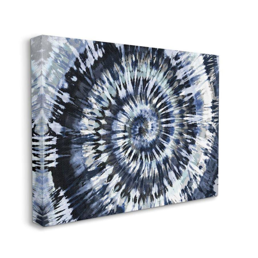 Stupell Industries Stupell Industries Abstract Blue Grey Tie Dye Spiral Pattern Detail Oversized Stretched Canvas Wall Art By Molly Kearns 24 X 1 5 X 30 In The Wall Art Department At Lowes Com