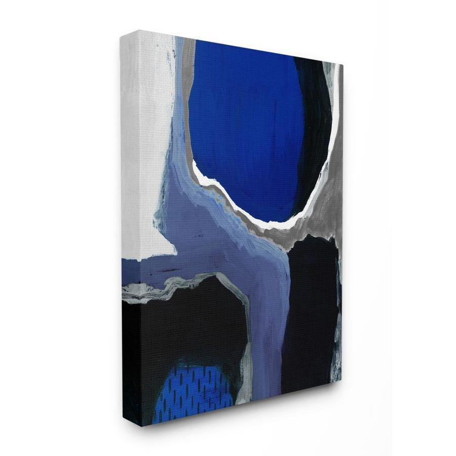 Stupell Industries Stupell Industries Abstract Masculine Cobalt Blue Grey Black Design Stretched Canvas Wall Art By Studio W 16 X 1 5 X 20 In The Wall Art Department At Lowes Com